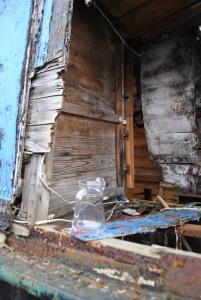 abandoned boat interior