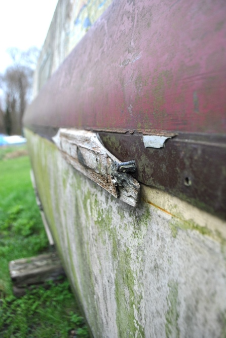 abandoned boat panel