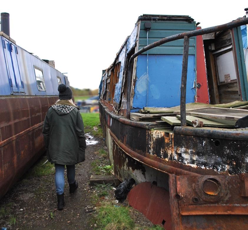 abandoned boat yard