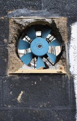 abandoned building fan