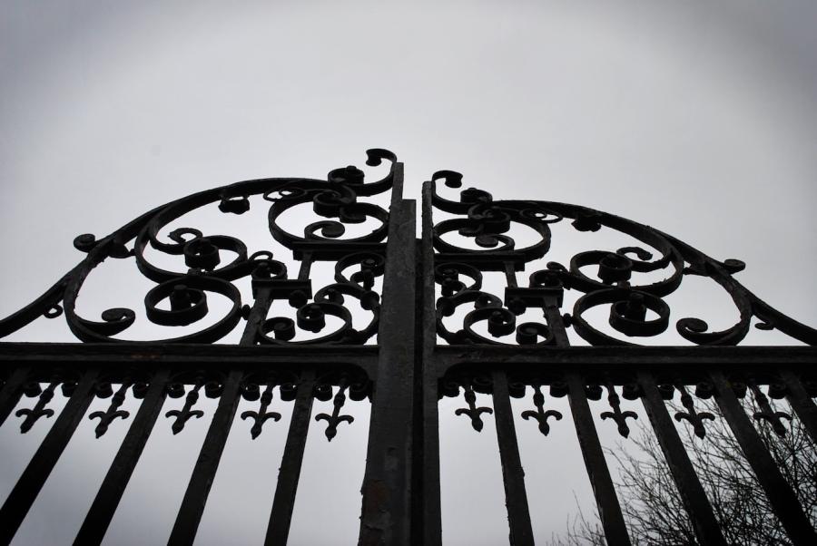 old iron gates