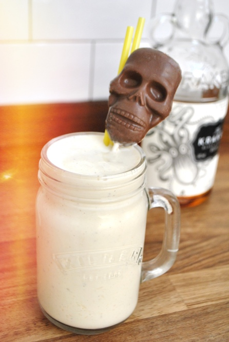 banana and rum milkshake