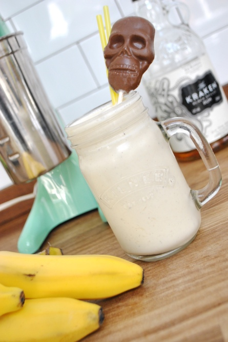 rum and banana milk shake