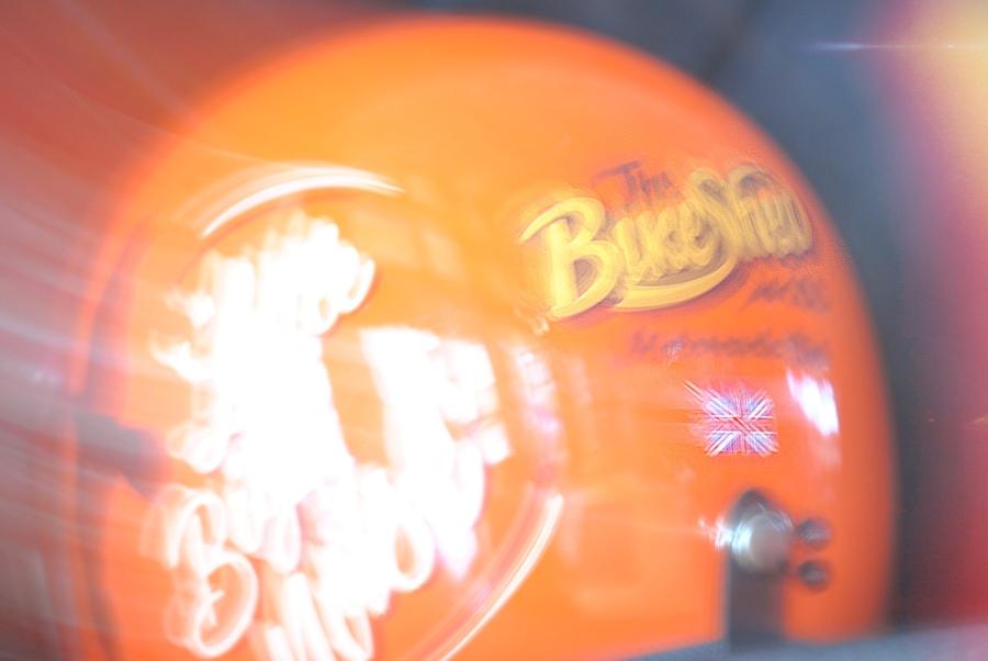 The Bike Shed helmet