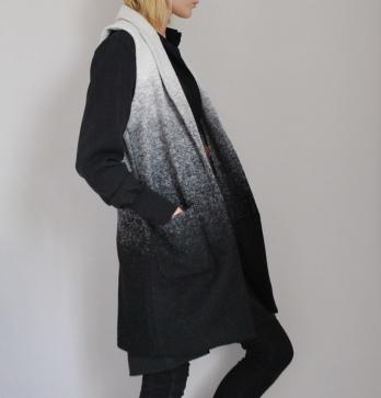 dip dyed coat